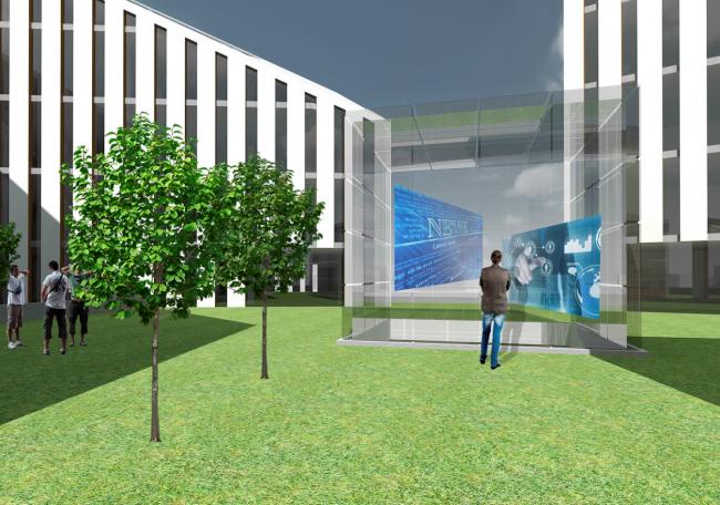 3-е место конкурса на разработку эскизного проекта Парка высоких технологий в Якутске. Проект ООО «Сахапроект» (автор:Геннадий Попов). Иллюстрация предоставлена организаторами