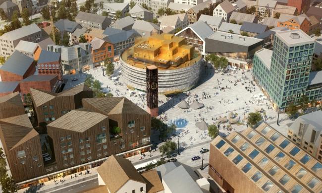 План «Новая Кируна» © White Arkitekten