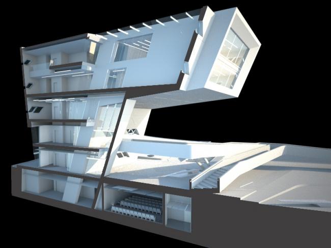 Институт политики и международных отношений имени Иссама Фареса © Zaha Hadid Architects
