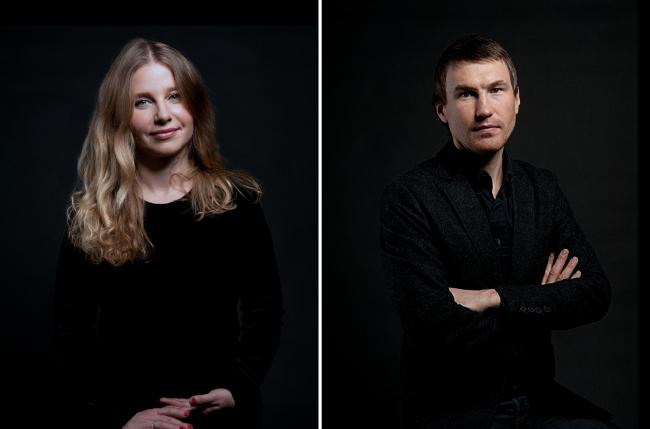Юлия Бычкова и Антон Кочуркин, продюсер и куратор фестиваля Архстояние. Фотография © Екатерина Баталова