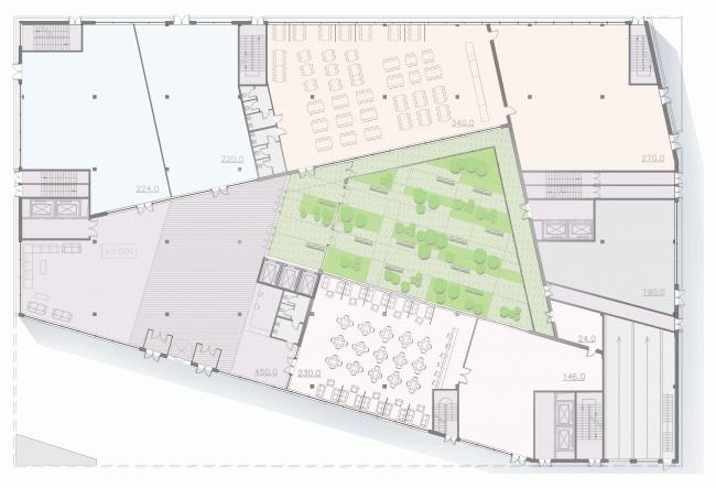 План. Конкурсный проект административного комплекса на улице Варшавская © «А.Лен»