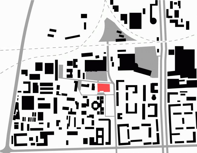 Ситуационный план. Конкурсный проект административного комплекса на улице Варшавская © «А.Лен»