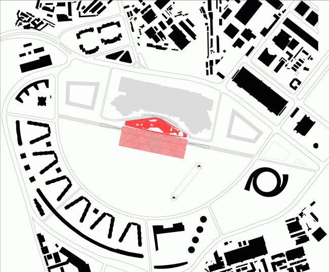 Музейно-выставочный комплекс ГЦСИ. Конкурсный проект © «А.Лен»