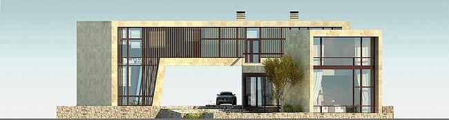 Индивидуальный жилой дом, Антоновка. Фасад С © PANACOM