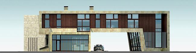 Индивидуальный жилой дом, Антоновка. Фасад Е © PANACOM