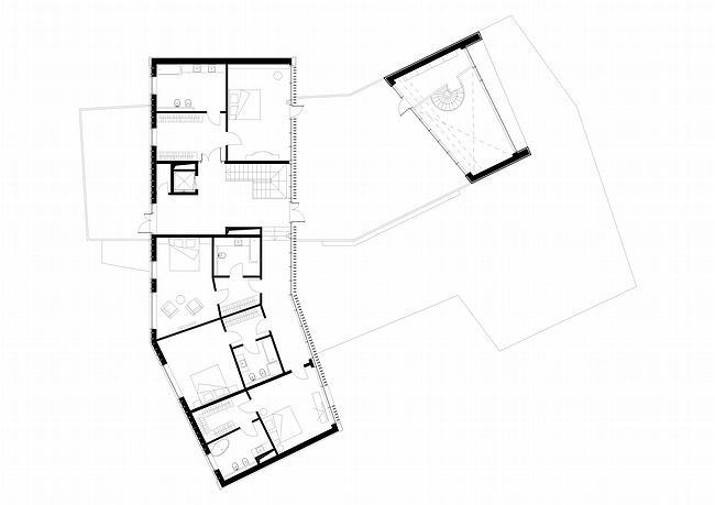 Индивидуальный жилой дом, Антоновка. План второго этажа © PANACOM