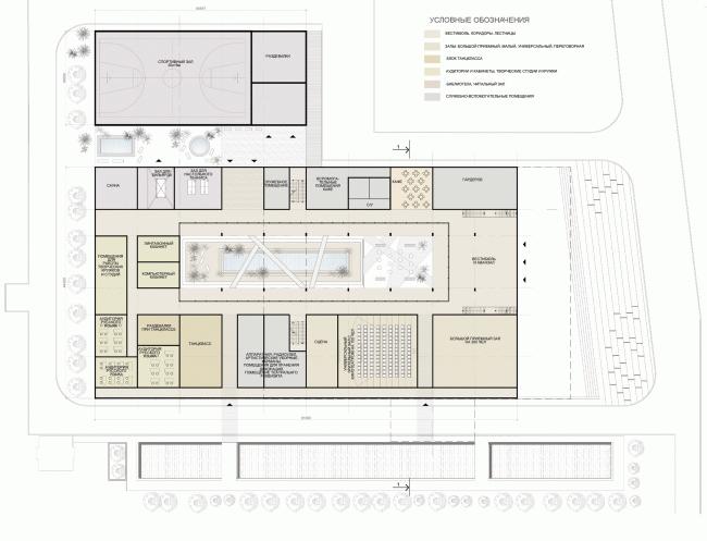 План 1 этажа. Российский центр науки и культуры в Кабуле © «А.Лен»