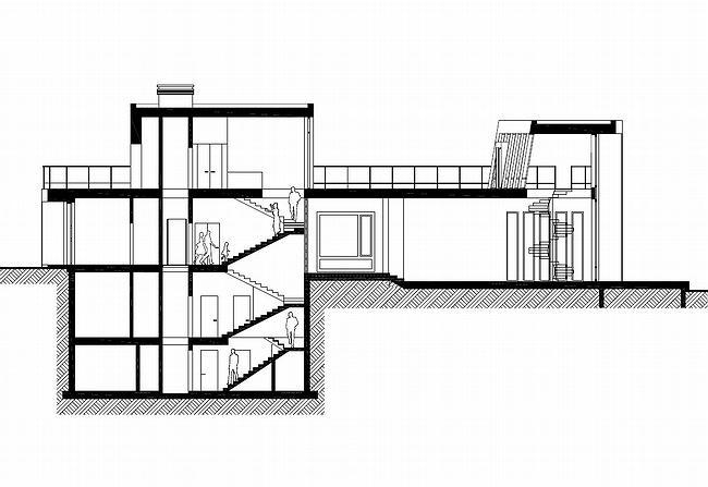 Индивидуальный жилой дом, Антоновка. Разрез 2-2 © PANACOM