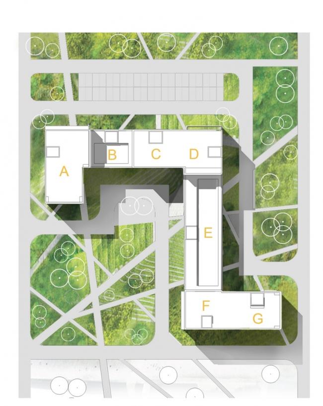 Конкурсный эскиз жилых домов © «А.Лен»