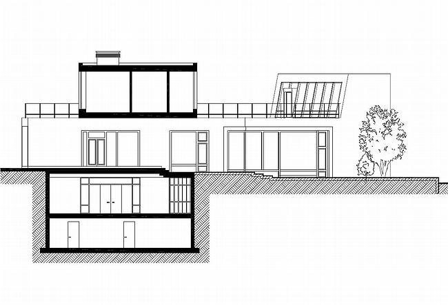 Индивидуальный жилой дом, Антоновка. Разрез 3-3 © PANACOM