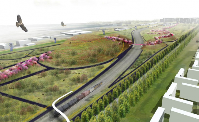 BOOM. Проект Strings Attached: линейные парки между Амстердамом и морем