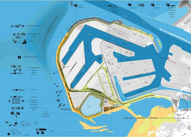 H+N+S. Проект Maasvlakte 2 - расширение порта Роттердама и создание там рекреационной/защитной зоны