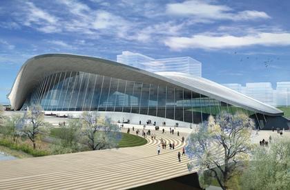 Спорткомплекс водных видов спорта Олимпиады-2012. Вид после окончания Игр. Проект