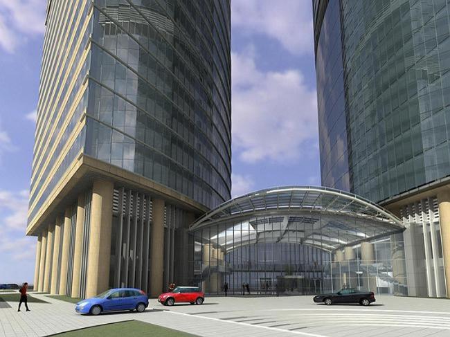 Административно-торговый комплекс на ул. Кульнева