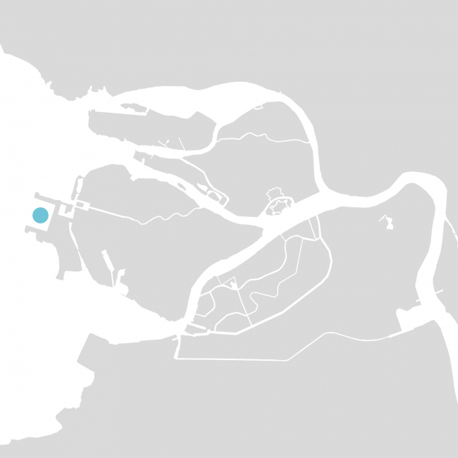 """Sea passenger terminal. Location plan © """"A.Len"""""""