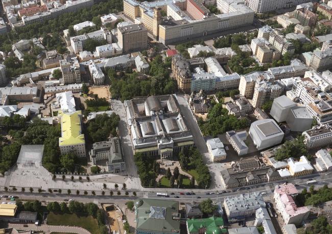 Концепция развития ГМИИ. Корпус депозитария © Архитектурное бюро «Проект Меганом»