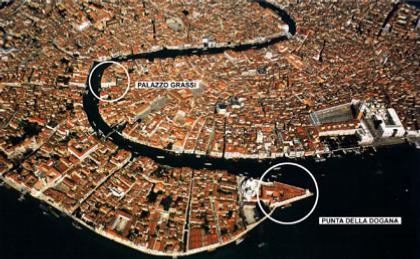 Аэрофотосъемка Венеции с указанием местоположения будущего Центра