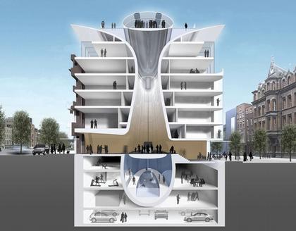 Отель «Клэренс». Разрез. Проект. Июнь 2007.