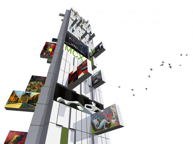 """Программа """"Городской вернисаж"""". Башня искусства. Архитектурное бюро «Четвертое измерение»"""