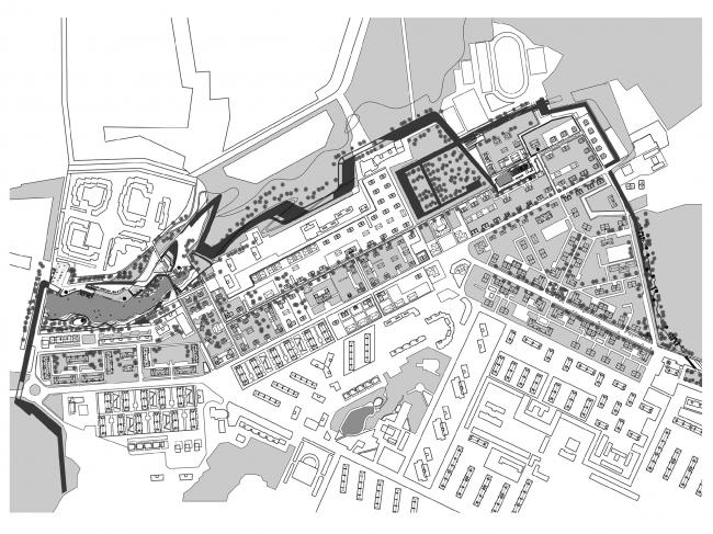 Реновация исторической части города Видное. Архитектурное бюро «Четвертое измерение»