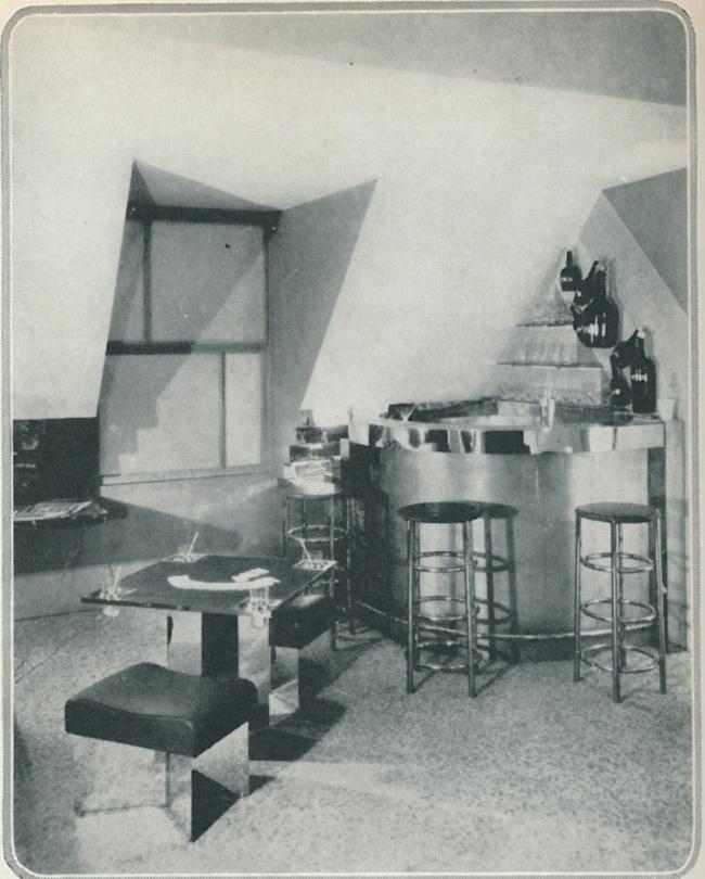 «Бар под крышей», экспозиция на Осеннем салоне в Париже. 1927 г. Архитектор: Шарлотта Перриан
