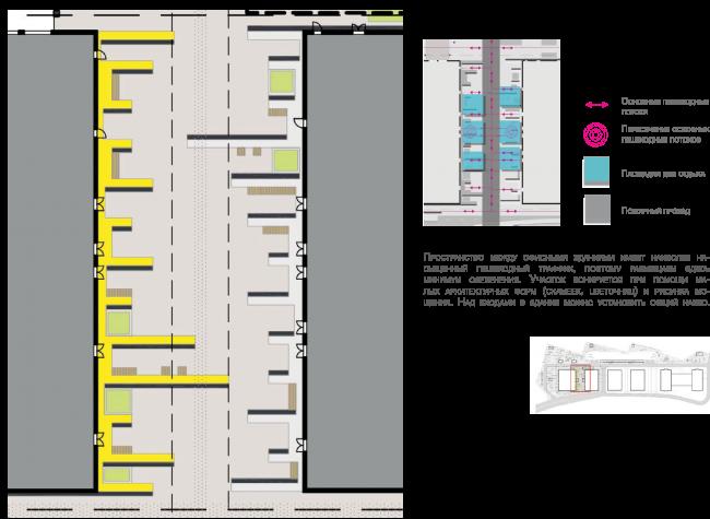 Концепция благоустройства многофункционального офисно-делового центра «Савеловский Сити». Первая очередь. Проект, 2014 © Т+Т Architects