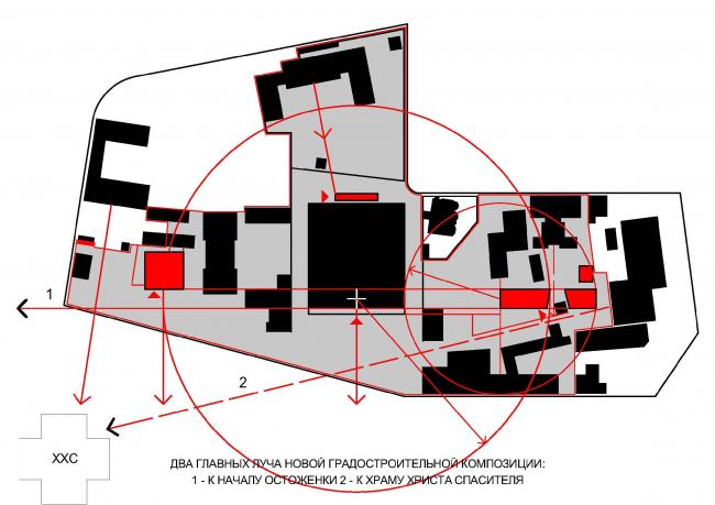Концепция развития ГМИИ © Сергей Скуратов Architects