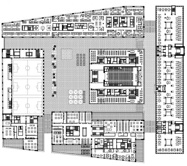 Кампус Педагогического института Цюриха в квартале Europaallee © Max Dudler Architekt