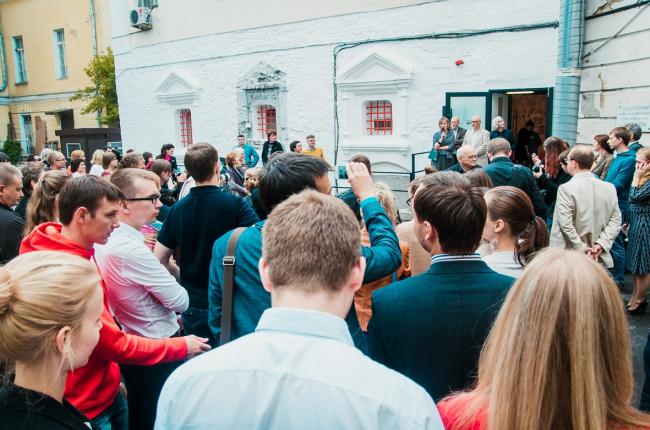 "At the opening ceremony of the exhibition ""Architecturium City"" © ""Architecturium""/ Yuri Pankratov"