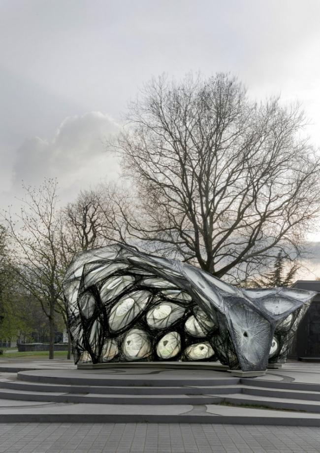 Павильон Штутгартского университета. Изображение предоставлено ICD и ITKE