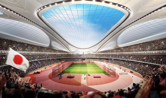 Национальный стадион Японии © Zaha Hadid Architects
