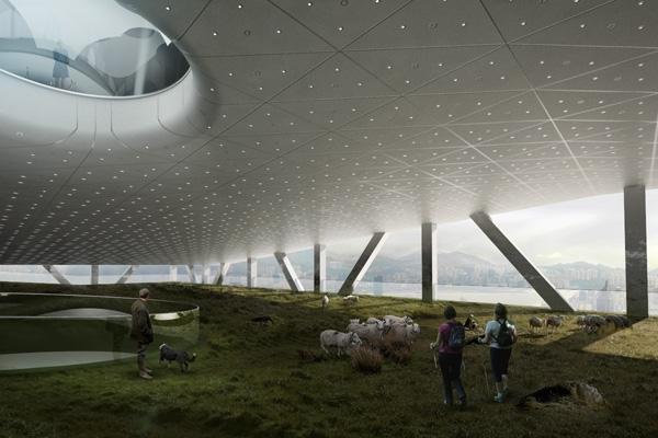 Проект небоскреба по концепции Acology для Гонконга. 2014 © TOTEMENT / PAPER