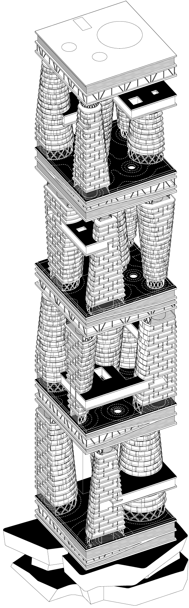 Axonometric perspective © TOTEMENT / PAPER