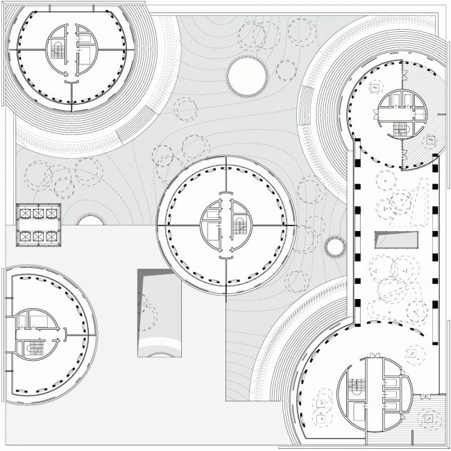 План: апартаменты и парк © TOTEMENT / PAPER