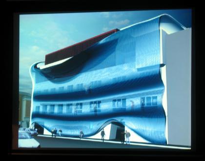 Задрапированный фасад миланского дома