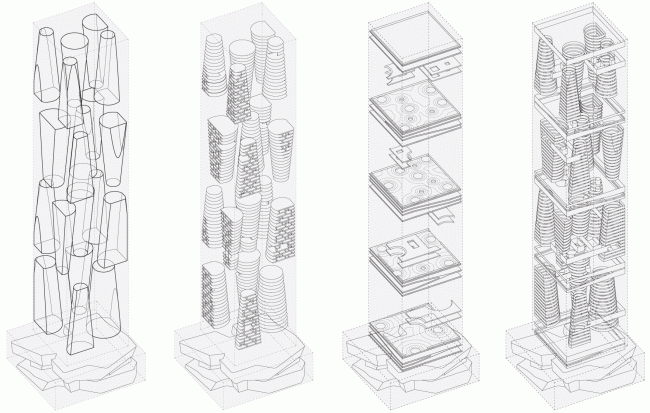 Structure: levels, platos, glazing © TOTEMENT / PAPER