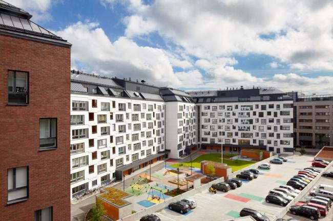 Huttunen-Pakkanen-Lipasti. Жилой комплекс Kaanaankatu в Хельсинки © Marko Huttunen