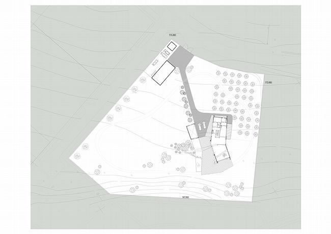 Индивидуальный жилой дом, Антоновка. Схема генплана © PANACOM