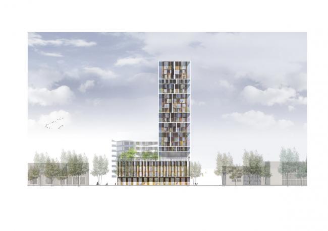 Жилая башня в Антверпене © C.F. Møller & Brut