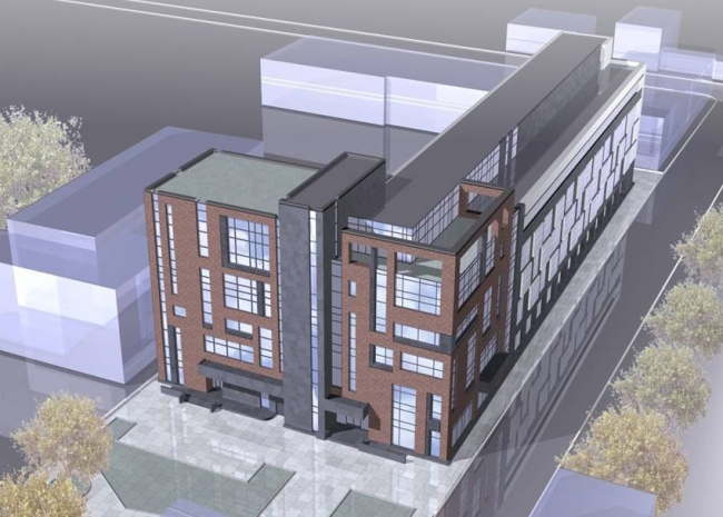 Проект гостинично-административного комплекса на Бауманской улице. Изображение: archsovet.msk.ru