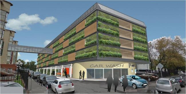 Проект реконструкции наземного паркинга на улице Усачева. Изображение: archsovet.msk.ru