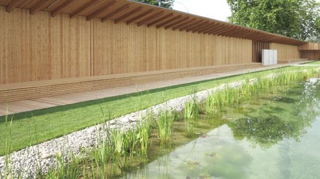 Бассейн Naturbad в Риэне © Michael Bär,  Herzog & de Meuron