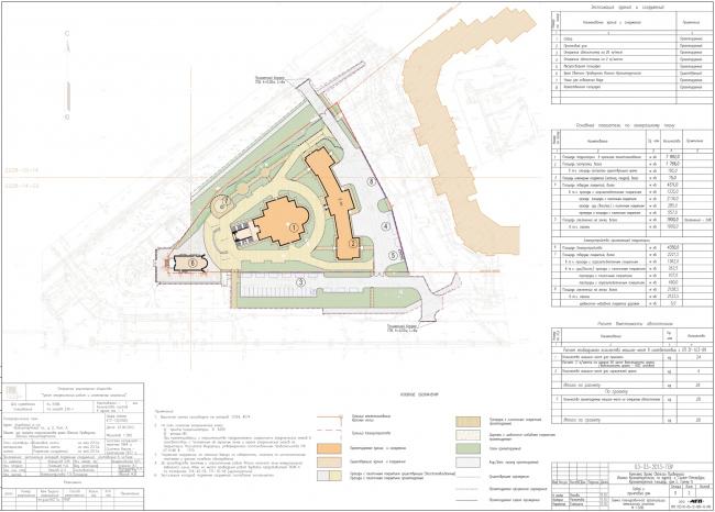 Land plot layout diagram © Eugene Gerasimov and Partners