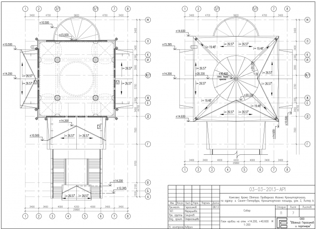 Plan of the roof © Eugene Gerasimov and Partners