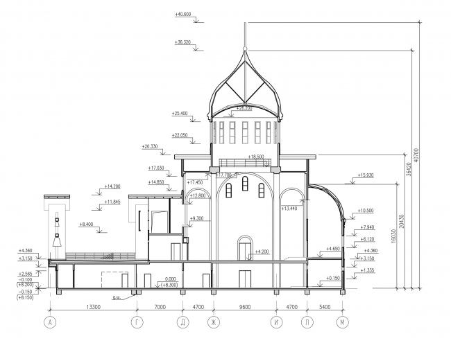 Section plan 2-2 © Eugene Gerasimov and Partners