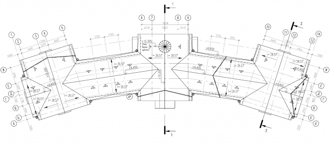 Plan of the roof of the parish house © Eugene Gerasimov and Partners