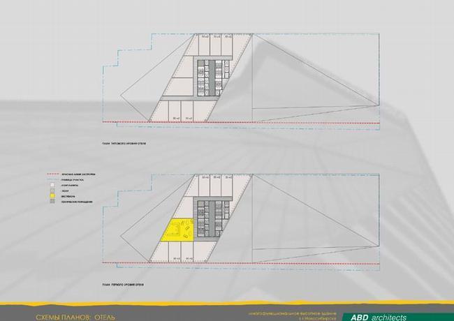 План офисной части и отеля