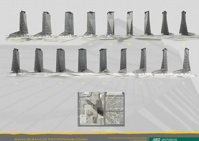 ABD architects. 15 основных точек зрения на башню