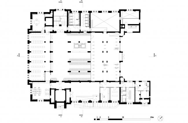 План этажа B1. Erasmus University College. © (designed by) Erick van Egeraat