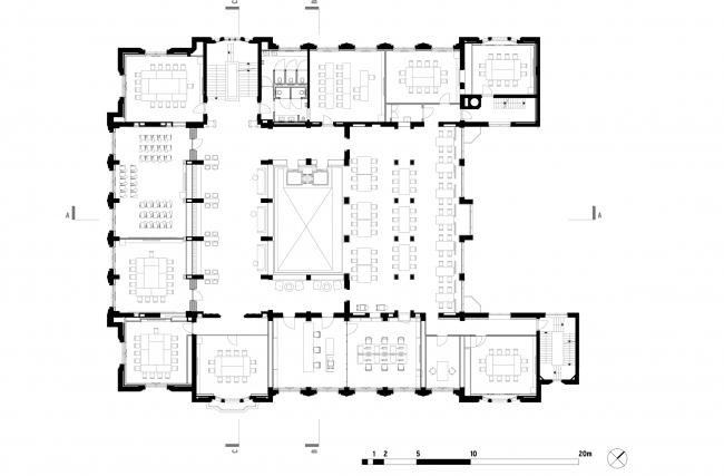 План 1 этажа. Erasmus University College. © (designed by) Erick van Egeraat